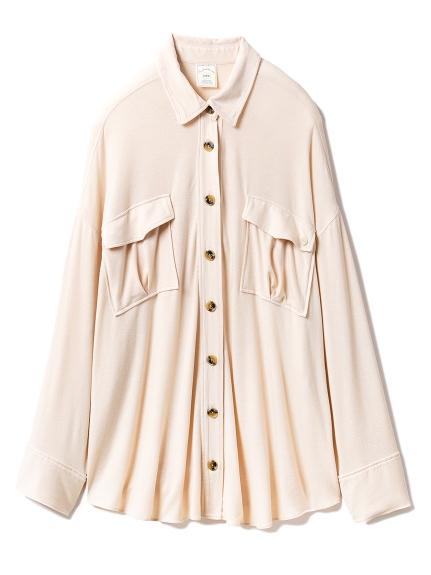ピーチスキンシャツ(BEG-F)
