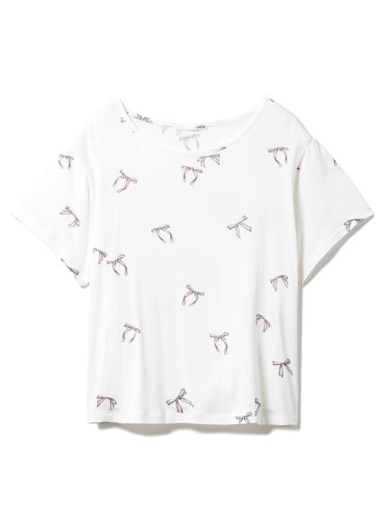 ロゴリボンTシャツ