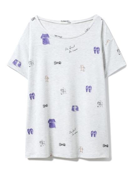 ピケモチーフTシャツ(GRY-F)