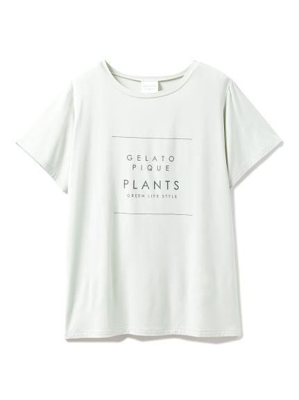 ボタニカルレーヨンロゴTシャツ