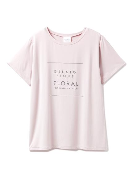 ボタニカルレーヨンロゴTシャツ(PNK-F)