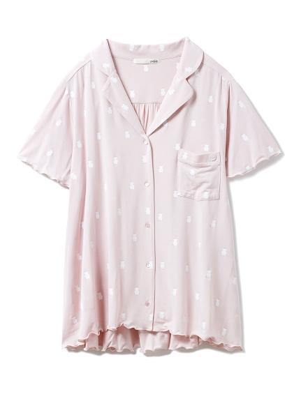 ベアモチーフシャツ(PNK-F)