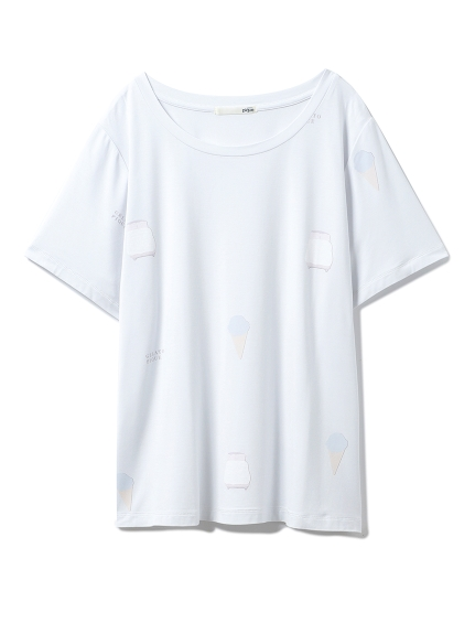 ピケメッセージカードTシャツ(MNT-F)