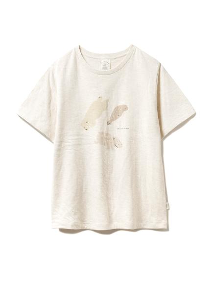 【旭山動物園】ペイントアニマルTシャツ(BEG-F)