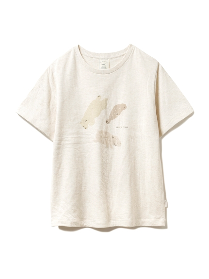 【旭山動物園】ペイントアニマルTシャツ(BEG--)