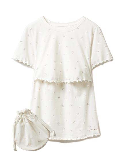 チェリーモチーフマタニティ授乳Tシャツ