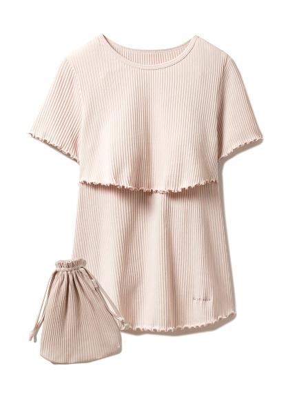 マタニティリブ授乳Tシャツ(PNK-F)