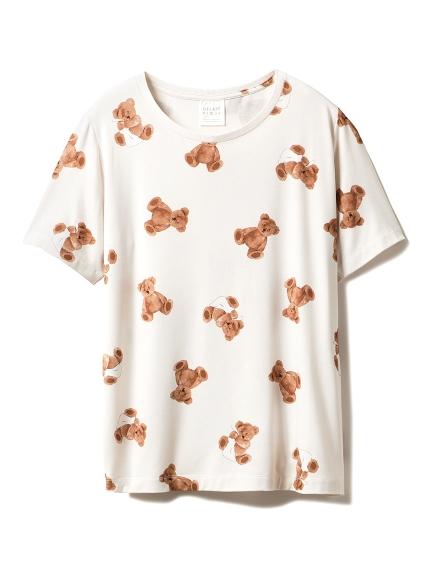 ベアモチーフ抗菌防臭Tシャツ(BEG-F)