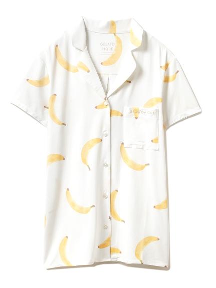 フルーツモチーフシャツ(YEL-F)