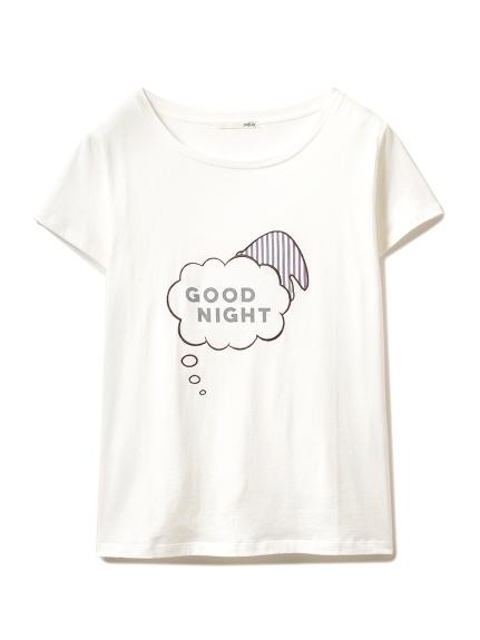 sleeping モチーフTシャツ(NVY-F)