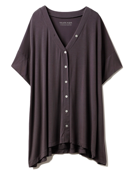 ヒアルロン酸Vネックシャツ