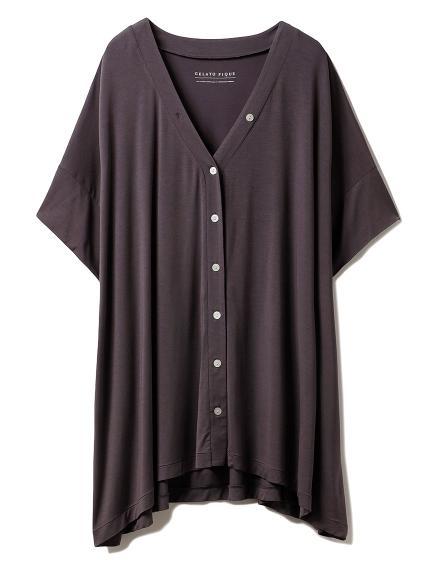 ヒアルロン酸Vネックシャツ(NVY-F)