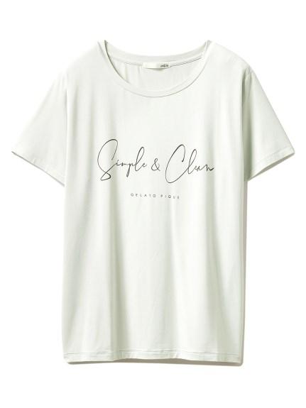 シンプルレーヨンロゴTシャツ(GRN-F)