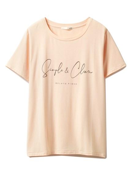 シンプルレーヨンロゴTシャツ(ORG-F)