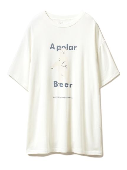 【シロクマフェア】シロクマワンポイント冷感Tシャツ