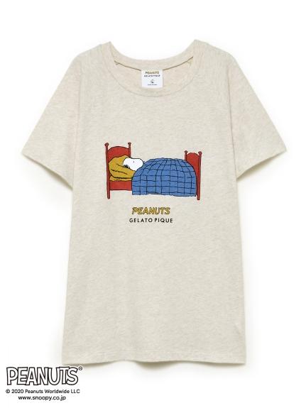 【PEANUTS】ワンポイントTシャツ(OATMEAL-F)