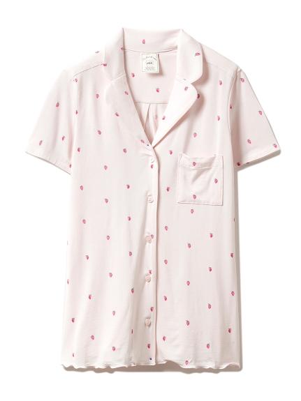 イチゴモチーフシャツ