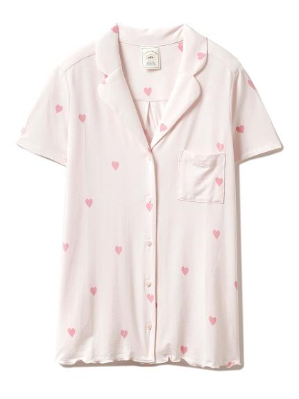 ハートモチーフシャツ