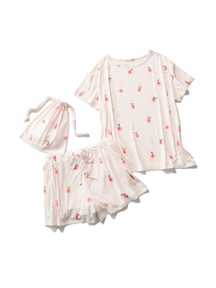 【ONLINE限定】フルーツモチーフTシャツ&ショートパンツ&巾着SET(PNK-F)