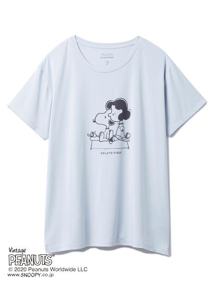 【LIMITED】PEANUTS ワンポイントTシャツ(BLU-F)