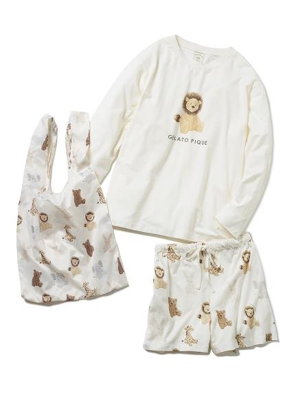【チャリティー】ぬいぐるみロングスリーブTシャツ&ショートパンツ&エコバッグSET