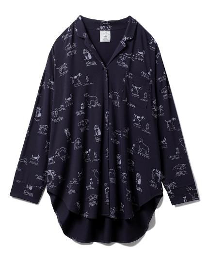 DOGモチーフシャツ(NVY-F)