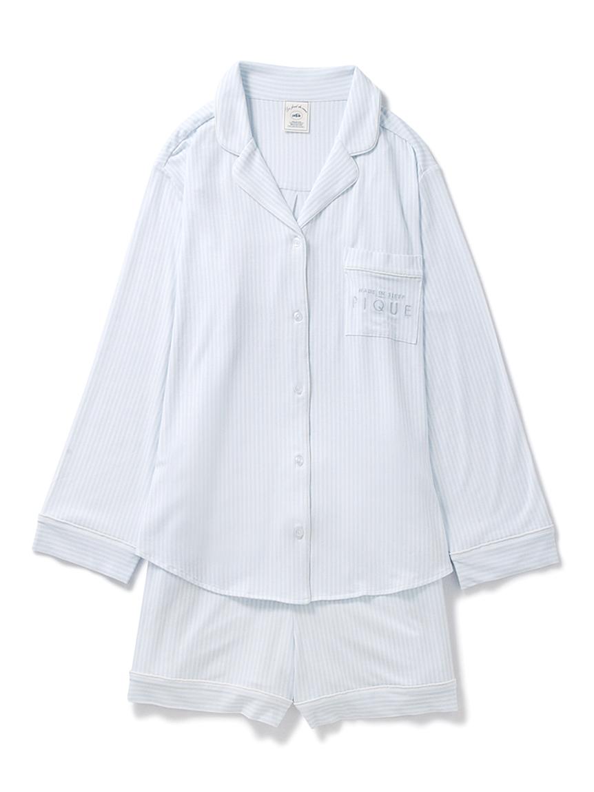 【ラッピング】ストライプモダールシャツ&ショートパンツ