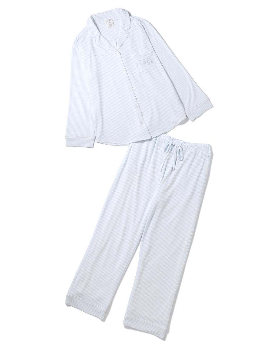 【ラッピング】ストライプモダールシャツ&ロングパンツ