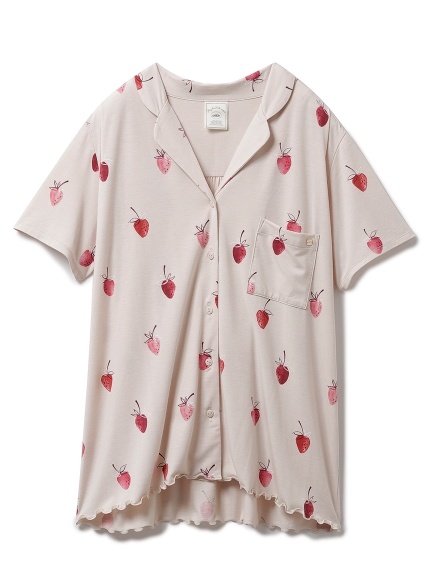 【ONLINE限定】ストロベリーモチーフシャツ(BEG-F)