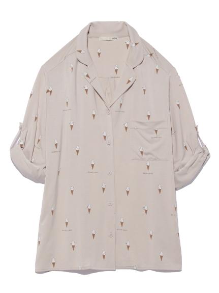 アイスモチーフシャツ(BEG-F)