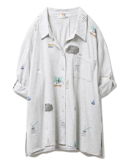 インテリアモチーフシャツ(GRY-F)