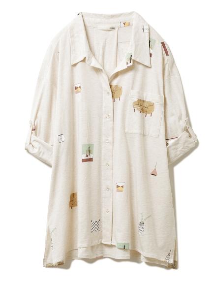 インテリアモチーフシャツ(BEG-F)