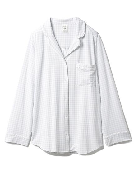 ギンガムモダールシャツ(BLU-F)
