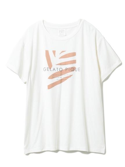 リネンミックスレーヨンロゴTシャツ(OWHT-F)