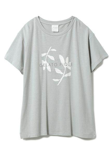 リネンミックスレーヨンロゴTシャツ(MNT-F)