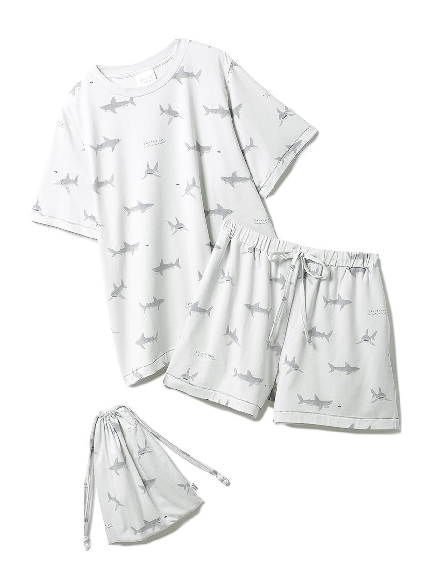 【オフィシャルオンラインストア限定】シャーク柄プルオーバー&ショートパンツ&巾着SET(MNT-F)