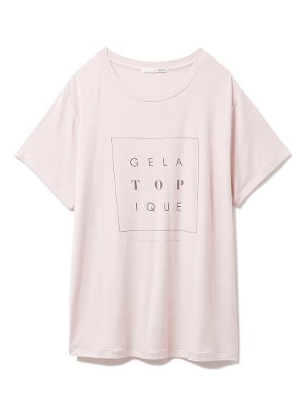 トーンアップカラーレーヨンロゴTシャツ(PNK-F)