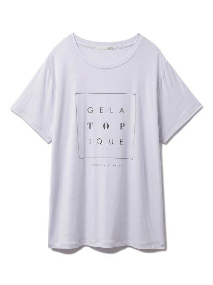 トーンアップカラーレーヨンロゴTシャツ(LAV-F)