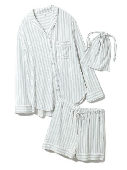【MINT collection】ストライプシャツ&ショートパンツSET