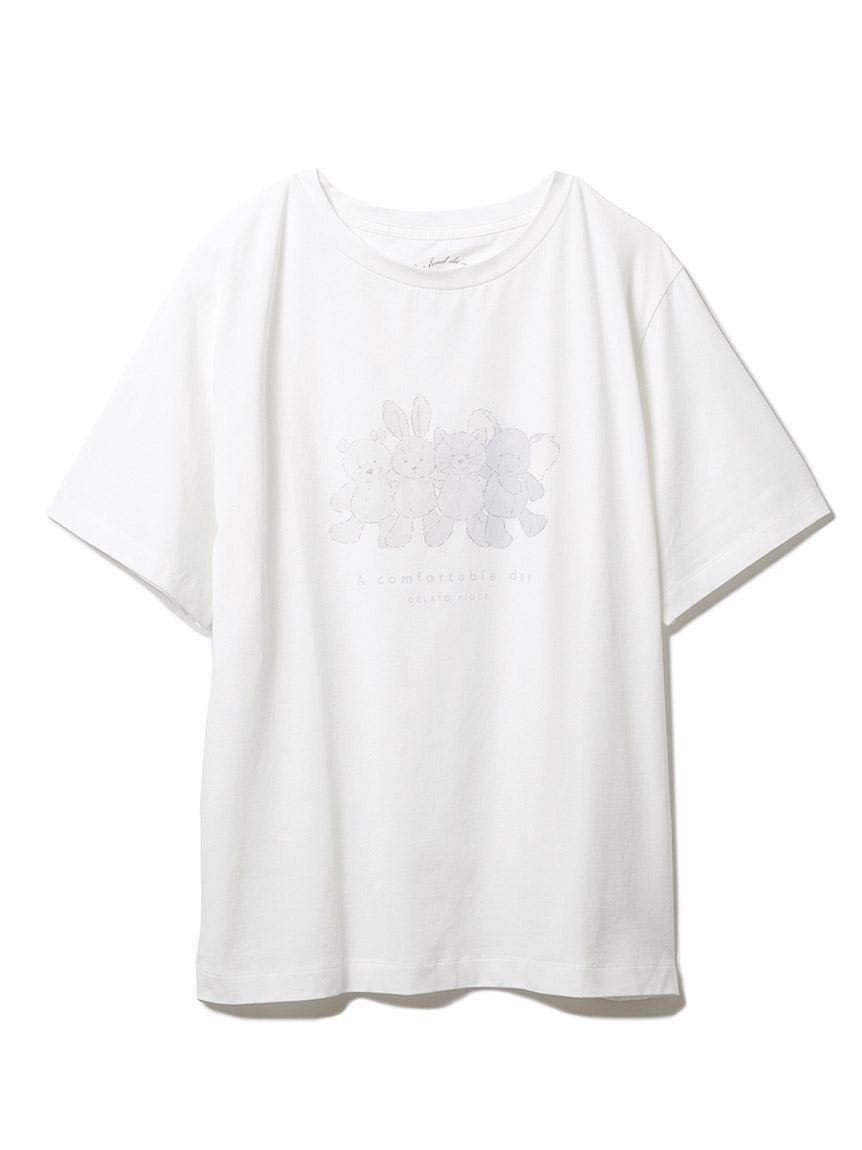 ぬいぐるみワンポイントTシャツ(OWHT-F)