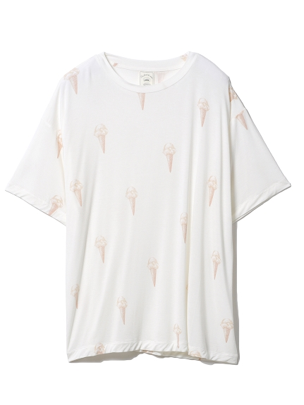 ジェラートモチーフTシャツ(IVR-F)
