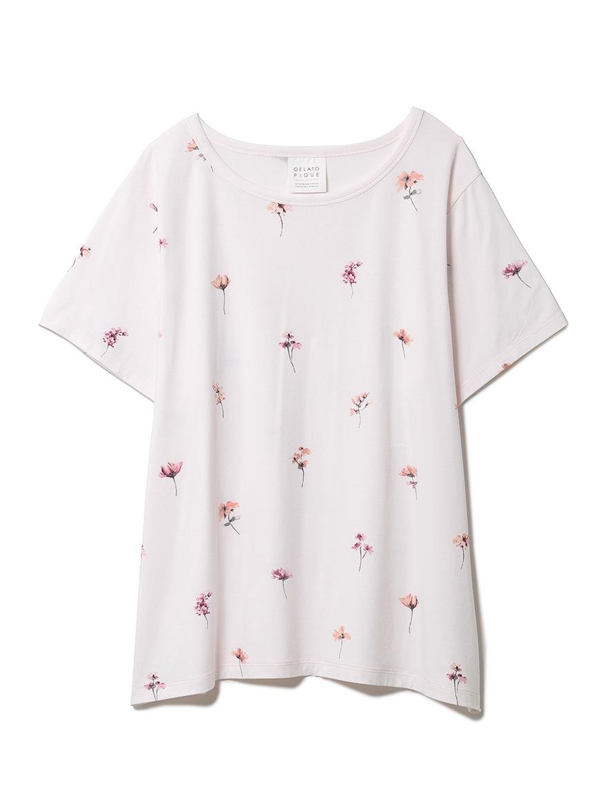 ポッピンフラワーモチーフTシャツ