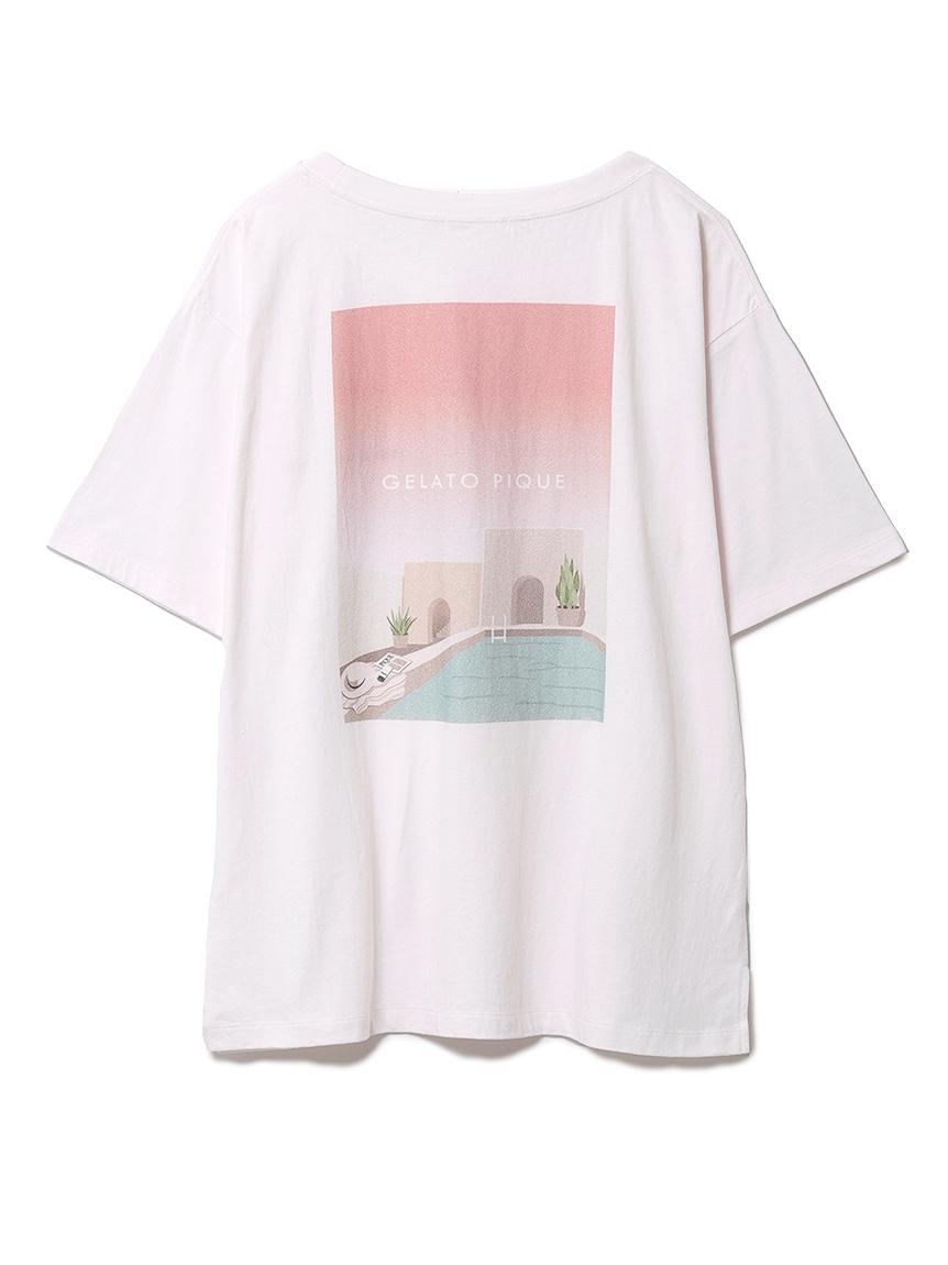 リゾートワンポイントTシャツ(PNK-F)