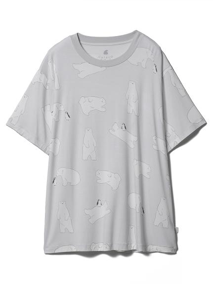 【COOL FAIR】シロクマモチーフTシャツ(GRY-F)