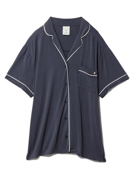 クールレーヨンシャツ(NVY-F)