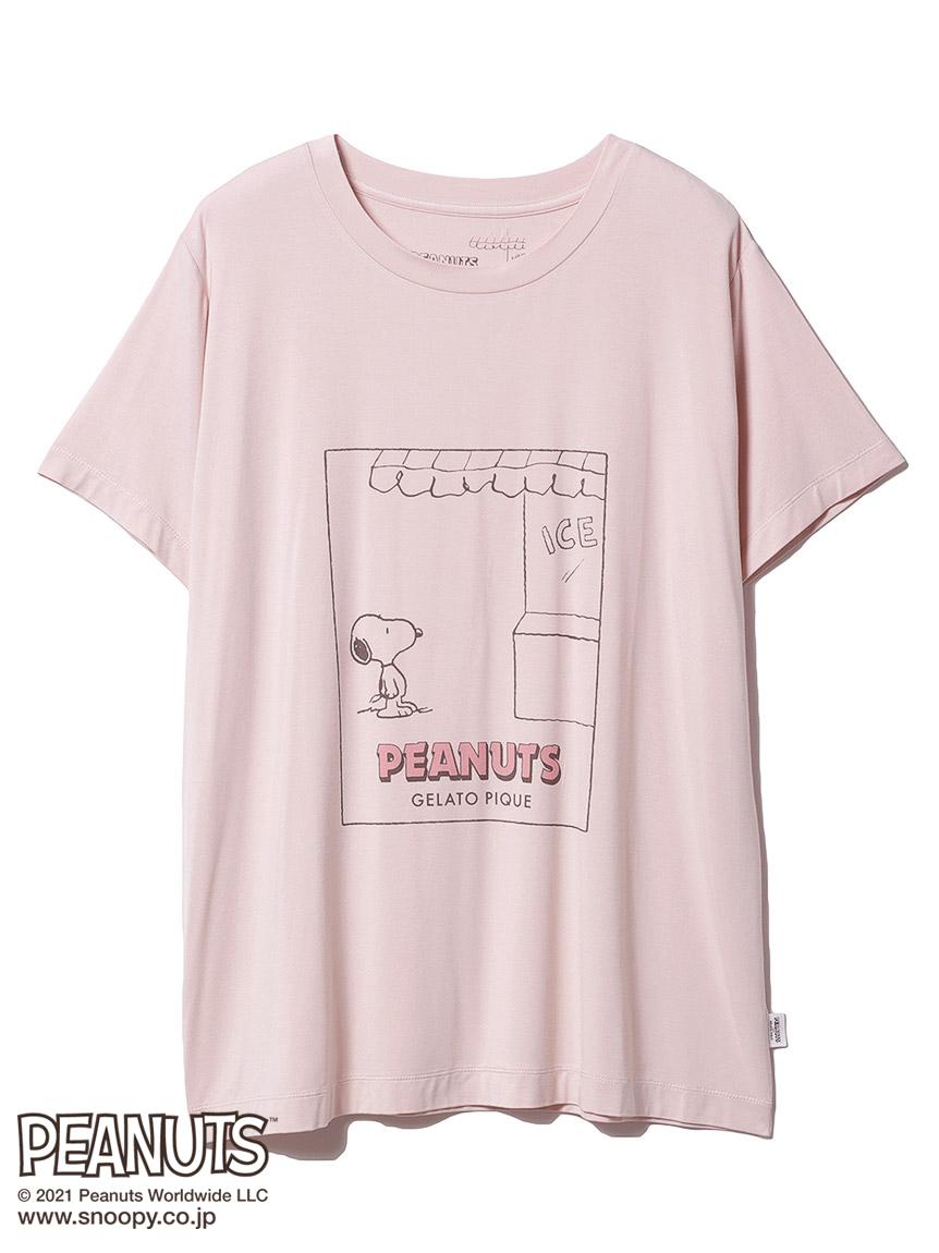 【PEANUTS】ワンポイントTシャツ(PNK-F)