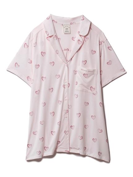 ハートモチーフシャツ(PNK-F)