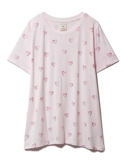 ハートモチーフTシャツ(PNK-F)