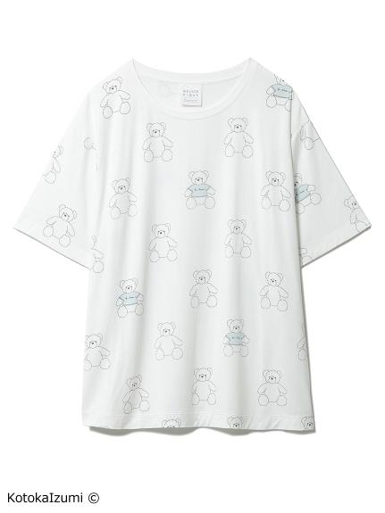 【kotoka izumi】ベアモチーフTシャツ(OWHT-F)