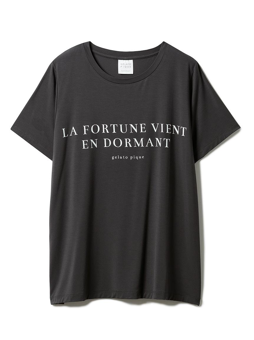 レーヨンロゴTシャツ(CGRY-F)